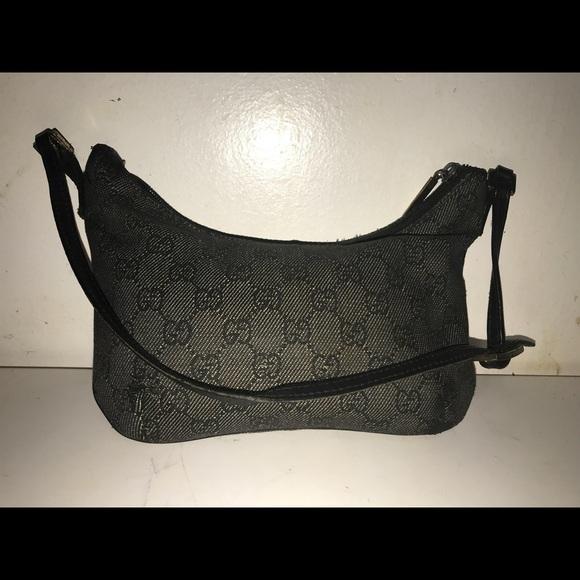 385d02dee89b Gucci Bags | Auth Black Denim Monogram Small Shoulder Bag | Poshmark